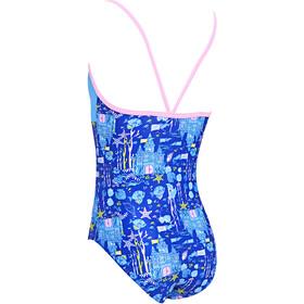 Zoggs Undersea V Back Swimsuit Girls blue/multi